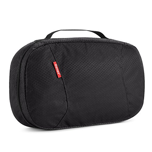 Hanging Toiletry Bag, Gonex Travel Cosmetic Makeup Organizer with Zipper Closure, 8x13 Black