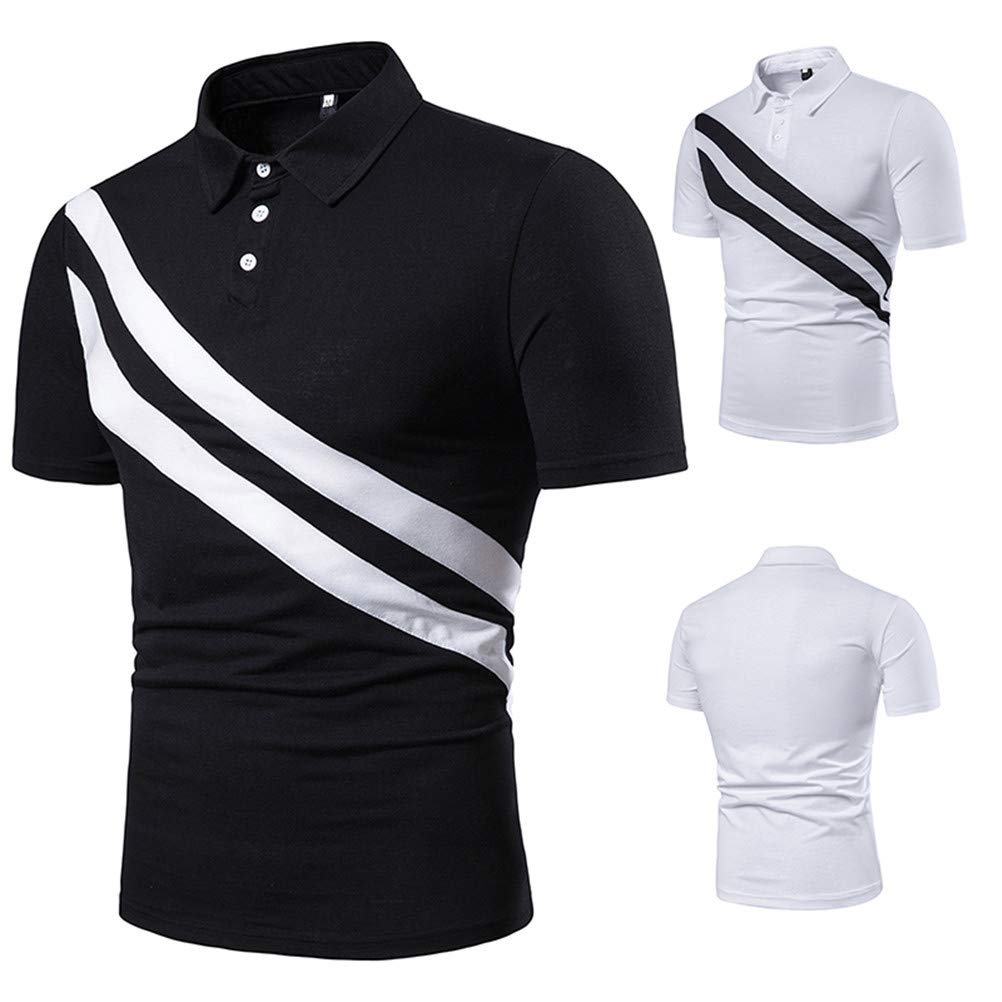 HWT8 Polo Shirts Short Sleeve Casual Slim Fit Lightweight Cotton T Shirts for Men