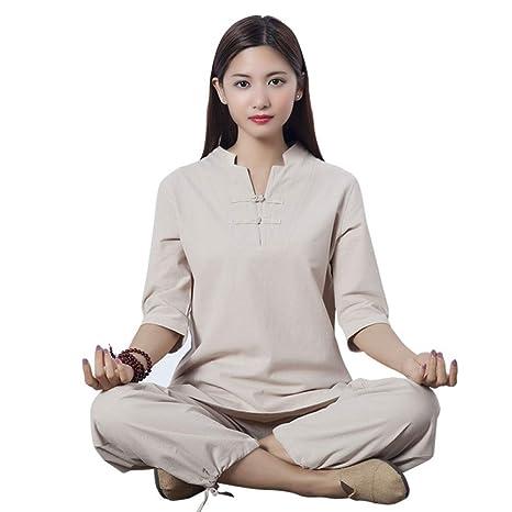 XPF Traje De Ropa De Yoga De Lino Y Algodón Zen étnico ...