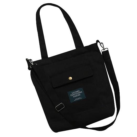 8952e440ae72 Amazon.com: Women's Simple Harajuku Portable Diagonal Canvas Bag ...