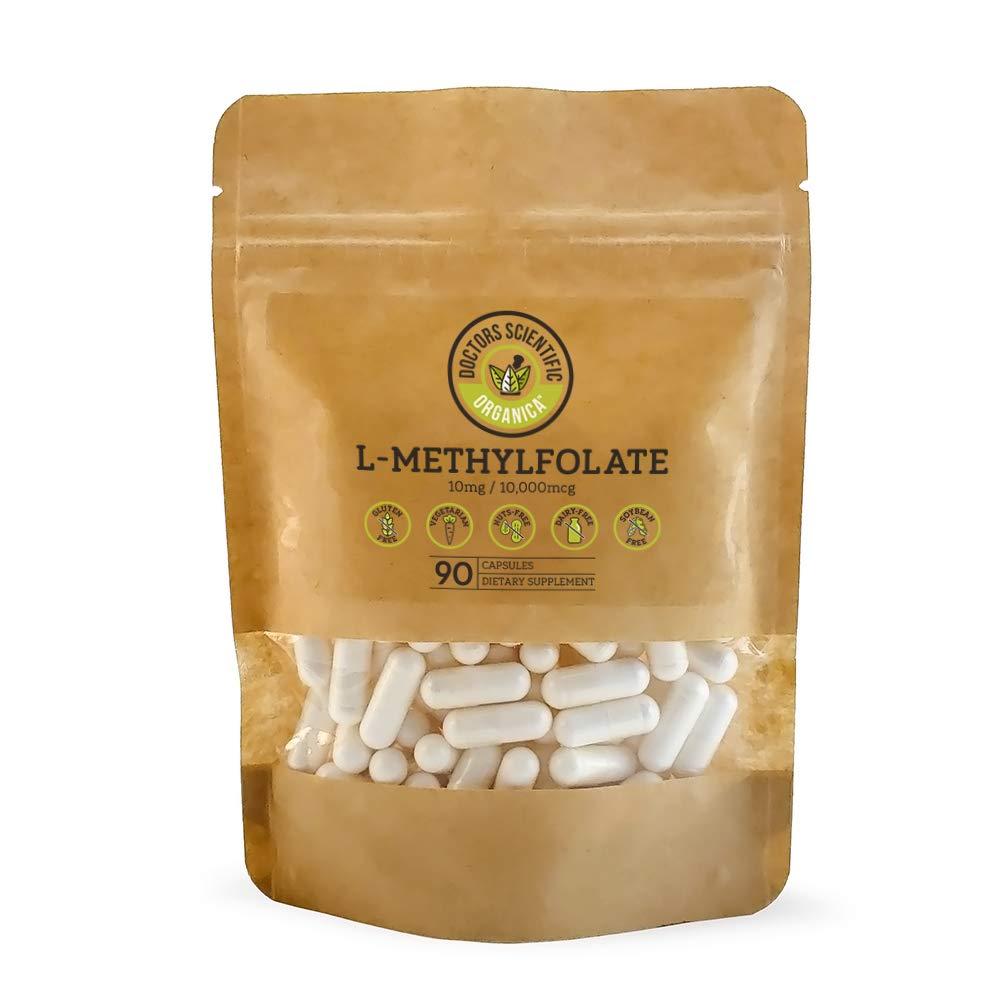 DSO L-Methylfolate 5-MTHF 10mg Active B9 Folic Acid 90 Capsules