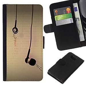 KingStore / Leather Etui en cuir / Samsung ALPHA G850 / Dilataciones Música Amor Arte Gráfico de la ilustración