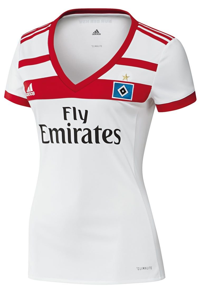 adidas Hamburger SV Damen Heim Trikot 201718 weißrot