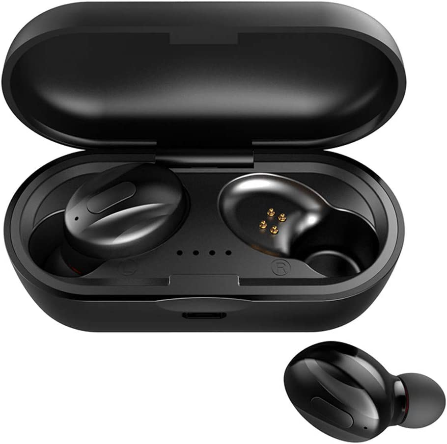 OutTop(TM) XG13 TWS Earbuds Wireless Bluetooth 5.0 Mini in-Ear Sports Headphones Waterproof with Charging Case Built-in Mic Earphones Headset for iPhone Samsung (Black)