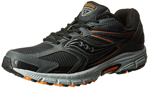 Saucony Men's Cohesion TR9 Running Shoe, Grey/Black/Orange, 9.5 M US