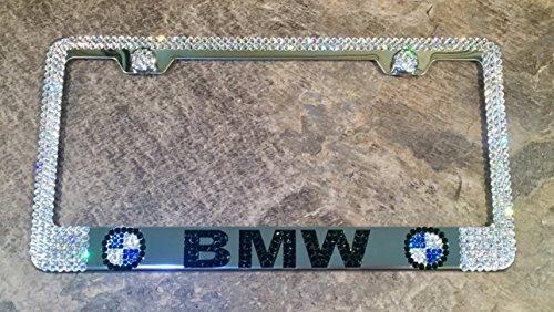 BMW License Plate Frame made with Swarovski Crystals - BMW Car Jewelry ()