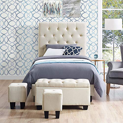 An item of Picket House Furnishings Faye Twin Size Bed with Bonus Ottoman Set- ()