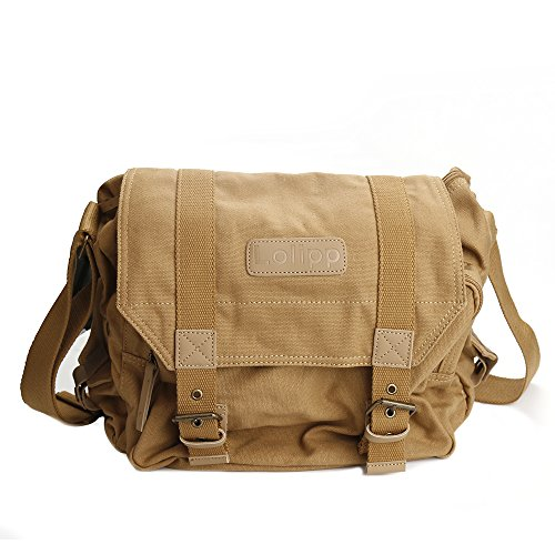 Celendi Canvas DSLR SLR Camera Shoulder Messenger Bag with Shockproof