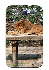 lintao diy Christinbris Anti-scratch And Shatterproof Animal Lion Phone Case For Galaxy S3/ High Quality Tpu Case