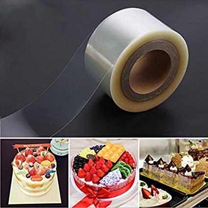 2 Rolls Transparent Clear Cake Collar,Mousse Chocolate and Cake Surrounding Edge Wrapping Tape for Baking/&DIY Decorating Acetate Sheet Tools,8cmx10m//10cmx10m