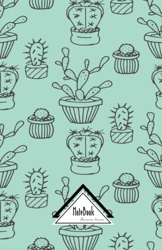 Notebook Journal Dot-Grid,Graph Grid,Lined,Blank No lined:  Cute Hand Draw Doodles Cactus Succulent Plants Pastel Green: Small Pocket Notebook Journal ... pages, 5.5