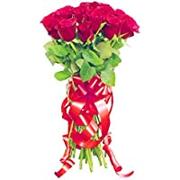 Golden Cart Garden Fresh ROSES FLOWER BOUQUET to Convey that 'special feeling' (Bunch of 5, Red)