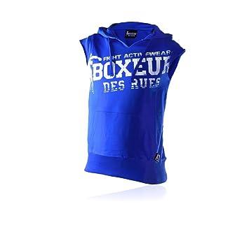 Boxeur des rues Fight Activewear Camiseta de Felpa de Manga Corta, con Capucha y Estampado: Amazon.es: Deportes y aire libre