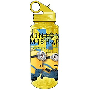 Silver Buffalo DM0764 Despicable Me Minion Mishap Tritan Water Bottle, 20-Ounces