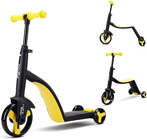 3 en 1 bebé Balance Bicicleta Bicicleta bebé Andador Juguetes para 1año de Edad niños/niñas 10 meses-24 Meses Primer Regalo de cumpleaños de la Bicicleta del bebé,Amarillo: Amazon.es: Hogar