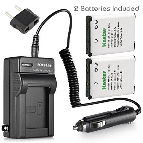 Kastar Battery 2x + Charger for Nikon EN-EL19 Coolpix A100 S100 S2600 S2700 S2750 S2800 S3300 S3400 S3500 S3600 S3700 S4100 S4300 S4400 S5200 S5300 S6600 S6700 S6800 S6900 S7000, Sony NP-BJ1 DSC-RX0