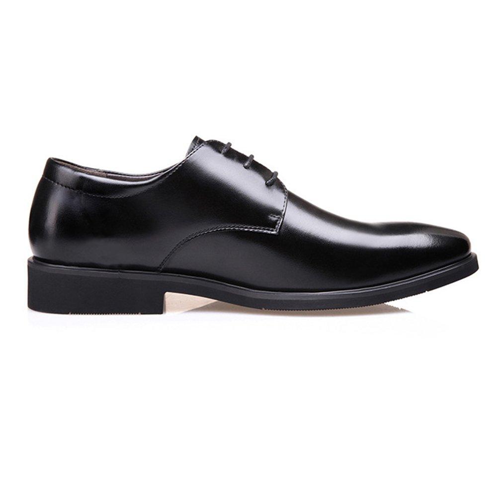 LQV Herrenschuhe Frühjahr Neue Männer Business Sich Kleid Schuhe England schnüren Sich Business Freizeitschuhe Niedrig, Um mit Gummisohlen zu Helfen schwarz 125657