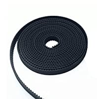 HICTOP 2 Meters GT2 2mm Pitch 6mm Wide Timing Belt Rubber Opening Belt for RepRap 3D Printer Prusa I3 MendelMax from HIC Technology