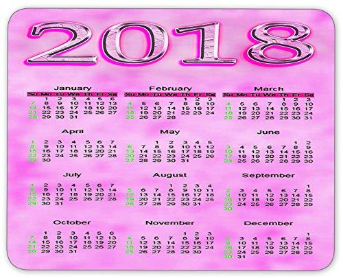 Calendar 2018 Design Personalized Rectangle Desktop Mousepad Mouse Pad (24 x 20 cm)