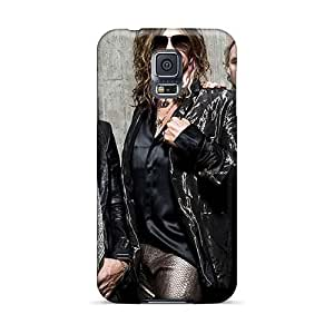 Best Hard Cell-phone Cases For Samsung Galaxy S5 (rTt14444OKPz) Allow Personal Design Lifelike Aerosmith Band Skin