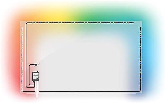 TronicXL - Luz LED de Ambiente para televisor (USB, RGB, con Mando a Distancia, autoadhesiva, iluminación indirecta, con Mando a Distancia): Amazon.es: Electrónica