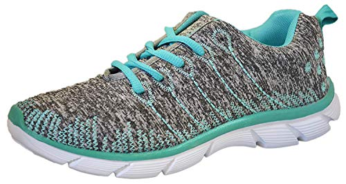 - Womens Sneakers Athletic Knit Mesh Running Light Weight Walking Casual Comfort Running Shoes Breathable (10, Mint)