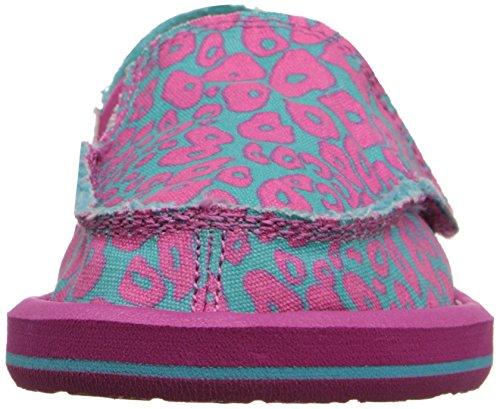 Cheetah Kids on turquoise Slip I'm Game Pink Sanuk gZ408x