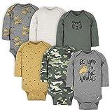Gerber Baby Boys' 6-Pack Long-Sleeve Onesies