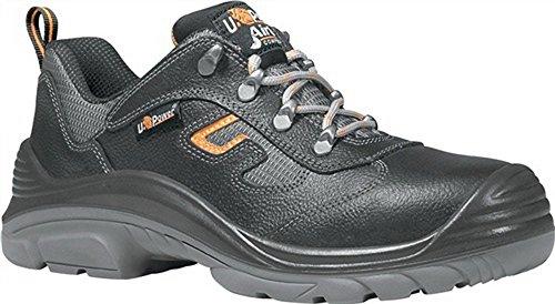 Zapato de seguridad en 20345S3Src Solid Talla 43piel lisa negro plástico tapa