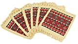 Splendid Exchange Southwest Style Woven Cotton Stencil Coasters, 7 Inches by 6 Inches, Crosses and Diamonds Red, Set of 6