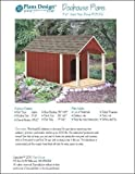 Gable Roof Style With Porch Dog House Project Plans, Pet Size up to 150 lbs Design # 90305G