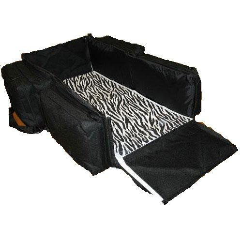 Triple Play 7601BZ Lilly Gold Nap-Sac Diaper Bag Bassinet - Black Zebra ()