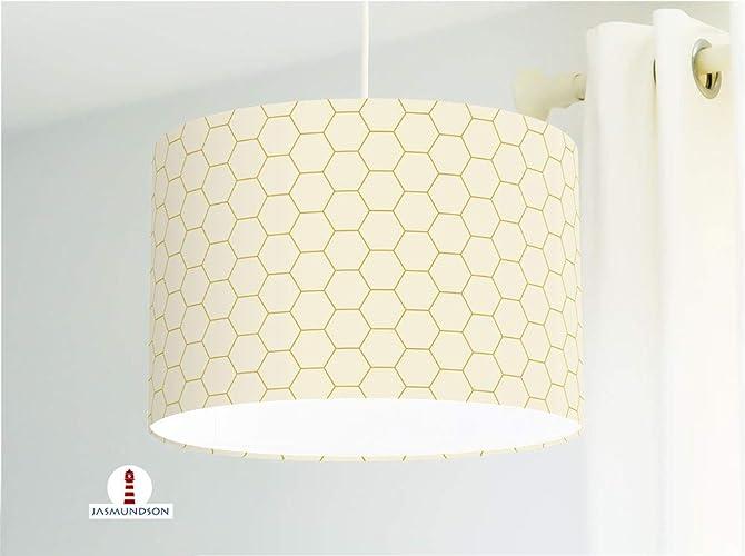 Lampe fürs Schlafzimmer und Wohnzimmer mit Hexagon in Beige ...