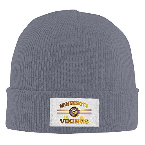 [Amone Minnesota Viking Winter Knitting Wool Warm Hat Asphalt] (Stefon Costume)