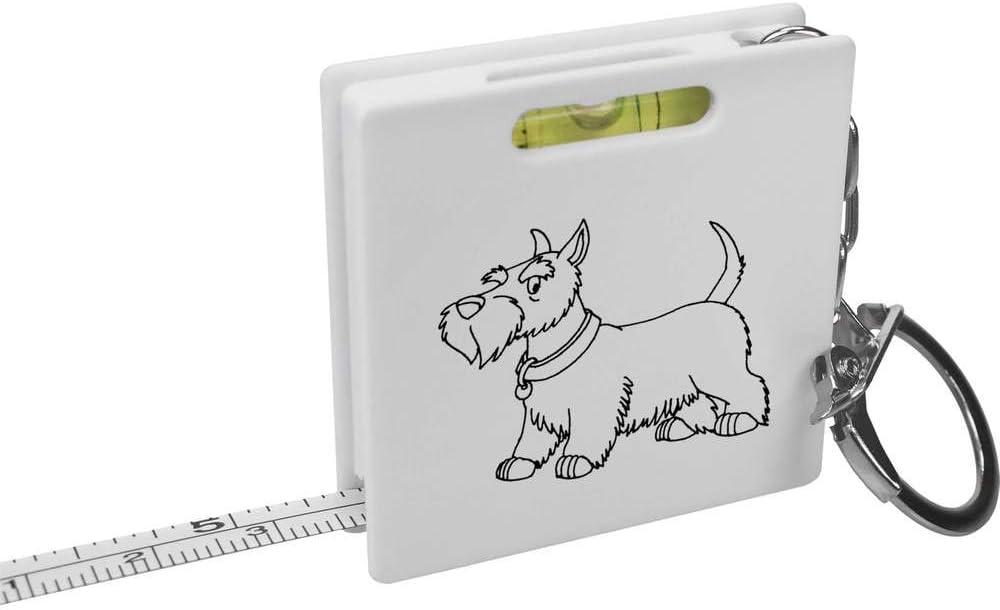 Wasserwaage Azeeda Scottish Terrier Schl/üsselring-Ma/ßband KM00010345