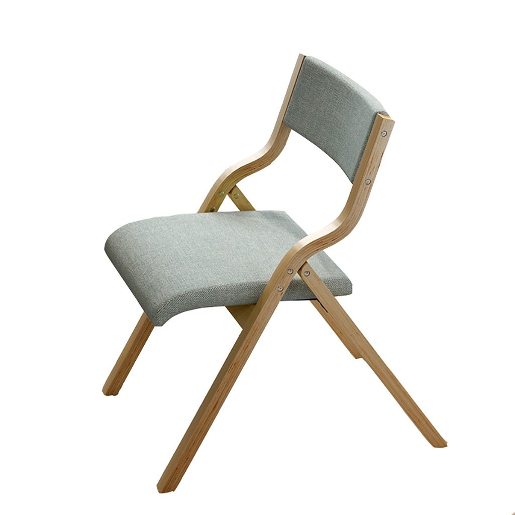 AJZXHE Dining Chair Creative Lounge Chair Folding Computer Chair Solid Wood Chair Seating Chair