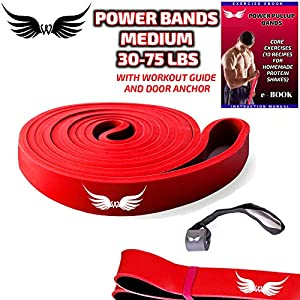 wings Resistance Pullup Power Bands for Exercise with Door Anchor Ebook Equipment Home Gym Accessories Calisthenics Workout Legs Hip TRX Women Men