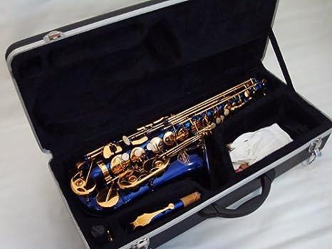 Opus Estados Unidos por ktone profesional azul oro saxofón Alto Sax marca nueva: Amazon.es: Instrumentos musicales
