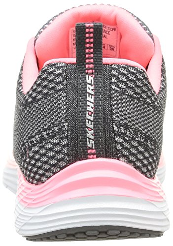 Skechers Valeris - Zapatillas Mujer Gris (charcoal/rose)