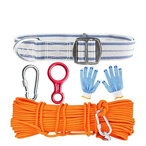 GYHHHM Rock,Climbing Kit Outdoor Family Emergency Lifeline Safety Wire Rope Earthquake Disaster Prevention Set - 5 Pieces 10m