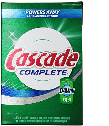 Cascade Complete, Powder Dishwasher Detergent, Fresh Scent 1