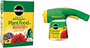 Miracle-Gro Water Soluble All Purpose Plant Food, 10 Lb & Garden Feeder with 1-Pound All Purpose Plant Food