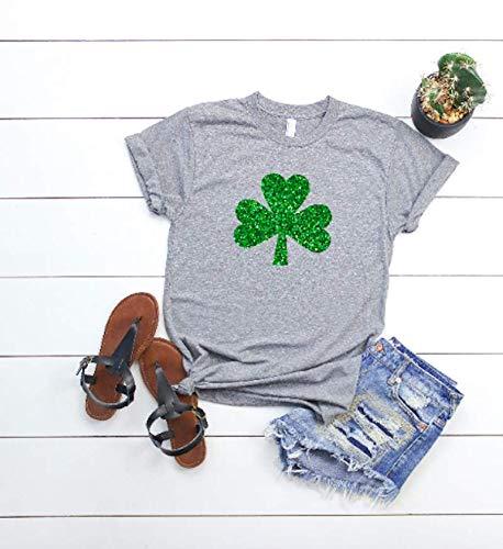 Women's St Patricks day tee Glitter Shamrock shirt Cute St Patty's day t-shirt St Patty's Day Outfit