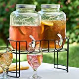 Brylanehome Dual Drink Dispenser On Stand (Glass,0)