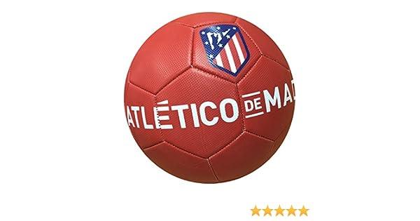 Balon Oficial Atletico de Madrid - Size 5 - Clasico Rojo  Amazon.es   Deportes y aire libre eed0f59552a91