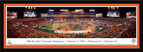 Clemson Tigers - 2016 College Football National Champions - Blakeway Panoramas College Sports Posters with Select Frame