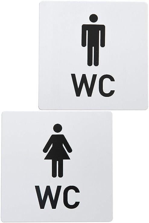 Bamodi Señales para Puerta WC Cartel de baño Mujer y Hombre ...
