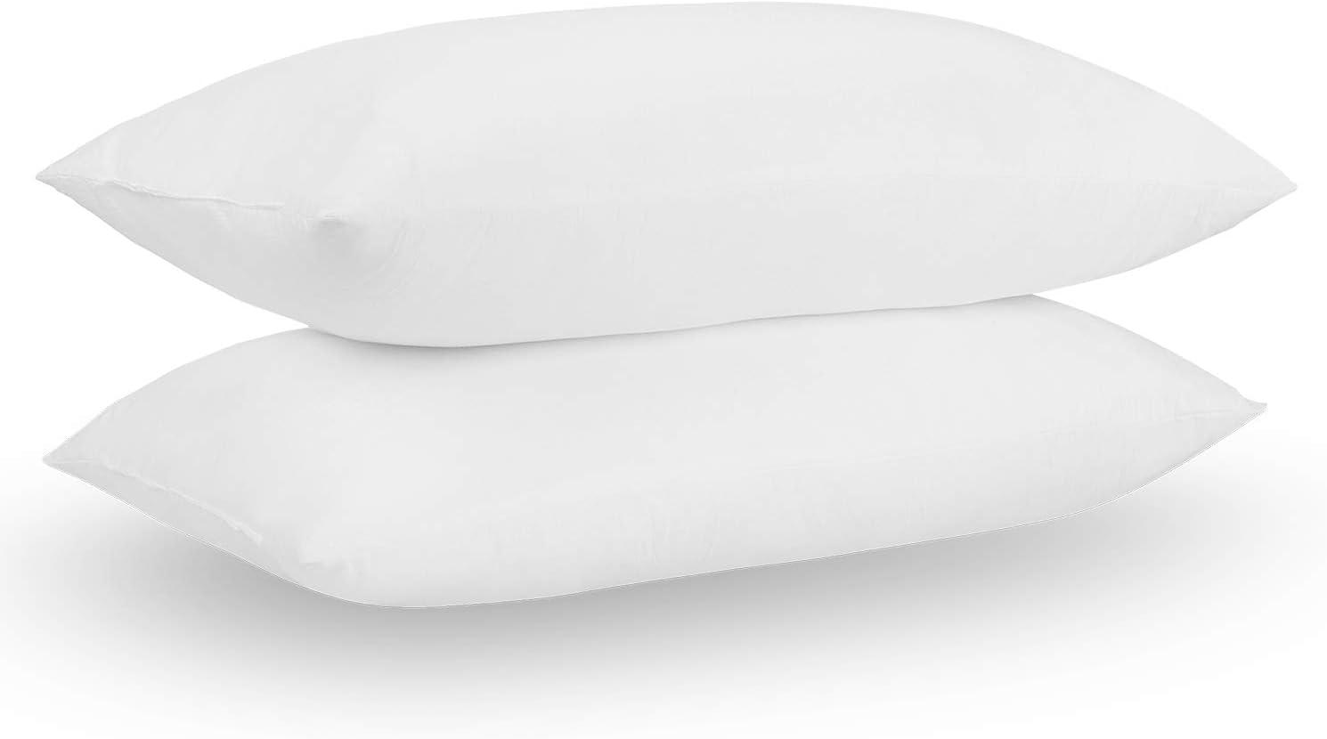 "Acanva Basic Bed Pillow Soft Rest Cushion Stuffer for Sleeping, Standard 20"" x 26""-2P, White 2 Pack"