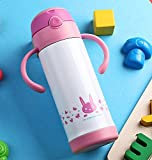 Pink Halloween Kids Stainless Steel Bottle Travel Mug Insulated Cup 12Oz