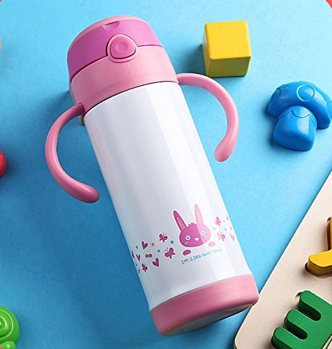 Pink Halloween Kids Stainless Steel Bottle Travel Mug Insulated Cup 12Oz by Travel Mugs